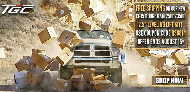 "Free Shipping on 2013 - 2015 Dodge Ram 2500 | 3500 2.5"" Leveling Lift Kits Until 8/15/14!"